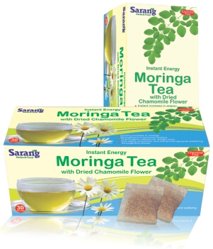 Moringa Tea bags with Camomile flower