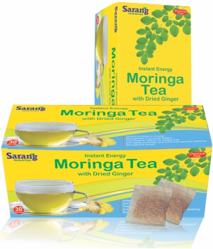 Moringa Tea bags with Dried Ginger
